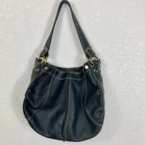 Lucky Brand Black Leather Hobo Bag Handbag
